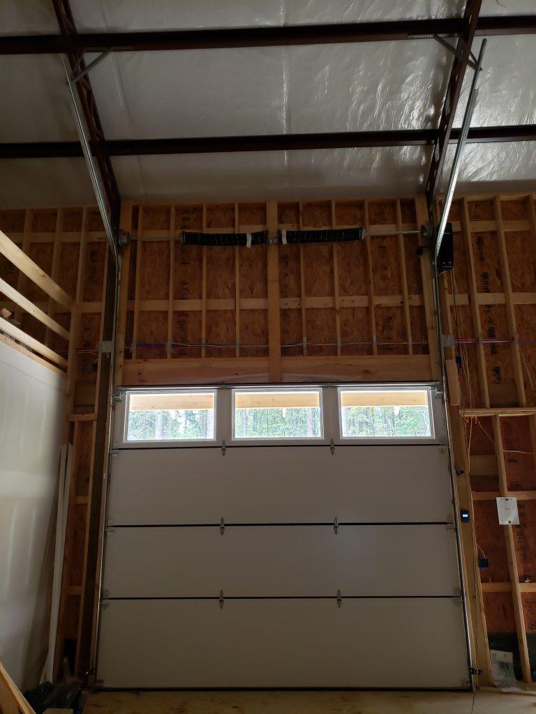 Custom Garage Door Inside Closed