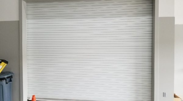 White Commercial Rolling Steel Door